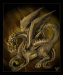 Spirit of Golden Fire Dragon by ShyloLove