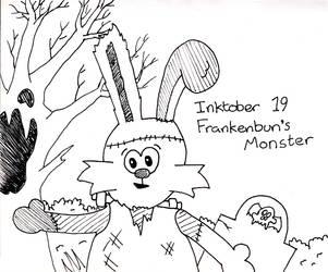 Inktober Day 19 - Frankenbun's Monster by WendyW