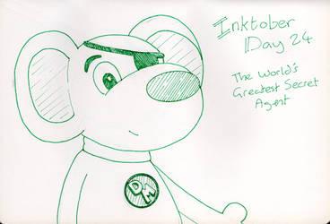 Inktober Day 24 -The World's Greatest Secret Agent by WendyW