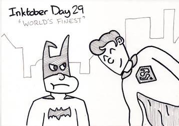 Inktober Day 29 - World's Finest by WendyW