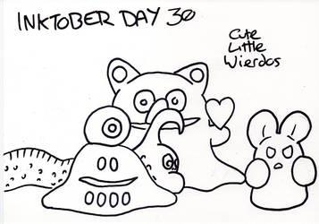 Inktober Day 30 - Cute Little Wierdos by WendyW