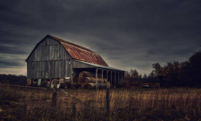 An Old Barn in Late Autumn, Ontario (3) by Nini1965