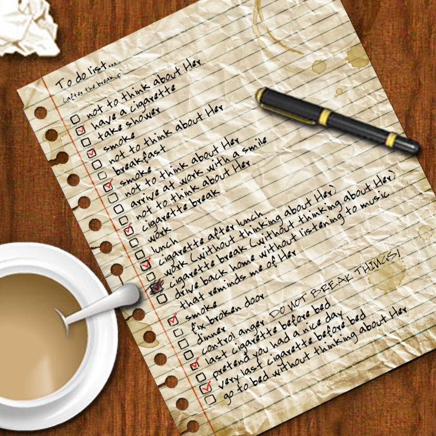To do list...after the breakup by kuddos