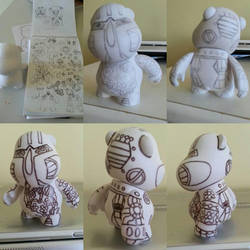 hippo robot munny process  by Queensone