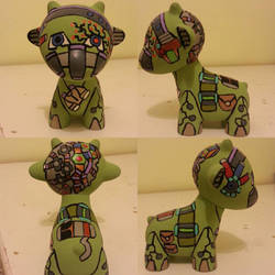 mecha cavalry robot munny  by Queensone