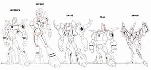 Dinobots 3.0 by wardog-zero