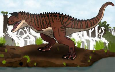carnotaurus : the cretaceous bull by luginsculpture47