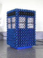 Chainmail TARDIS Lamp by Telperinon