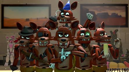 [SFM FNAF] Shadow clones Foxy by Happyling