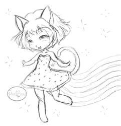 Chibi Nyan Cat WIP by PunkBune