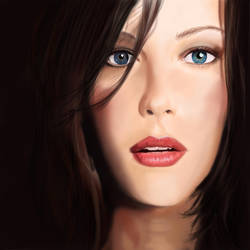 Liv Tyler Portrait - WIP by annaluci