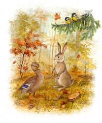 Duck and Bunny by ArtGalla