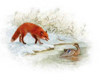 Duck and Fox by ArtGalla