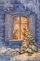 Winter cat by ArtGalla
