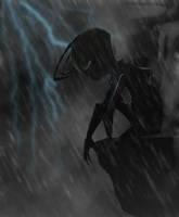 Zim in the rain by RoboticMasterMind