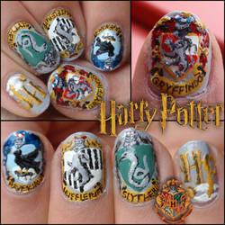 Harry Potter nails by Ninails