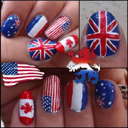 flag nails by Ninails