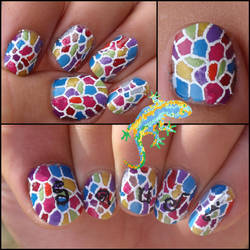 Gaudi nails by Ninails