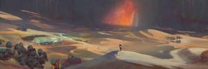 Desert Environment Color Concept by AnthonyPismarov