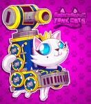 Supersonic Tank Cats: Reina portrait by molegato