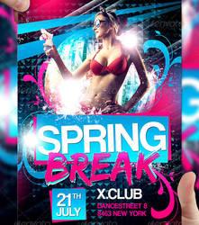 Spring Break Flyer Template by LordFiren