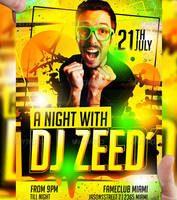 DJ ZEED Party Flyer Template by LordFiren
