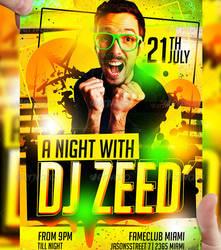 DJ ZEED Party Flyer Template by LordFiren