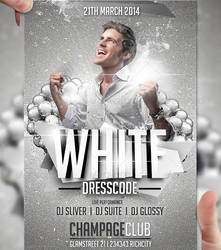 White Dresscode Flyer Template by LordFiren