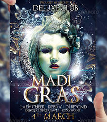 Mardi Gras Party Flyer Template by LordFiren