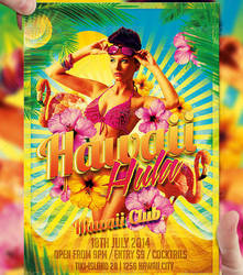 Hawaii Hula Flyer Template by LordFiren