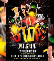 STOP Night Flyer Template by LordFiren