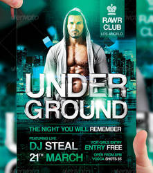 Underground Party Flyer Template by LordFiren