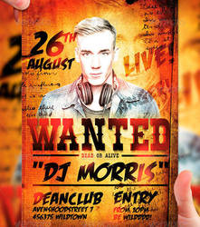 Wanted Flyer Template by LordFiren