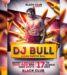 DJ Bull Flyer Template by LordFiren