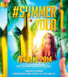Summer Yolo Flyer Template by LordFiren