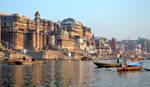 Varanasi ghats at Ganges by joseluisrg