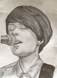 Tegan Quin Pencil Drawing by FrankTheSixFootBunny