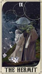 Star Wars Tarot Deck - IX The Hermit by ctyler