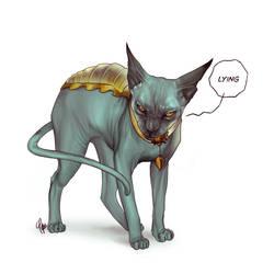 Lying Cat by ctyler