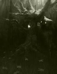 Le Treehouzio BW by Lakkae