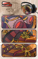 Steampunk Painted Headphones by Ketchupize