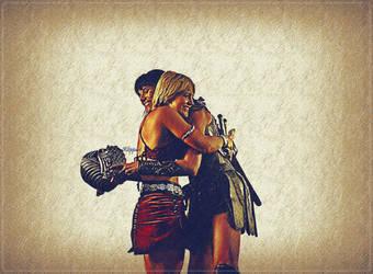 Xena and Gabrielle - Many Happy Returns by ARTbyKLIPP