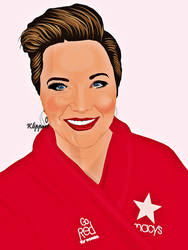 Lucy Lawless - Go Red for Women by ARTbyKLIPP