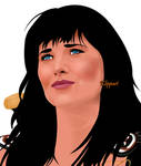 Xena - The Compassionate Look(or Wistful) by ARTbyKLIPP