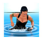 Xena Gone Fishing by ARTbyKLIPP