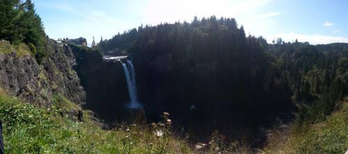 Snoqualmie Falls (panorama) by KillerWereWolf1