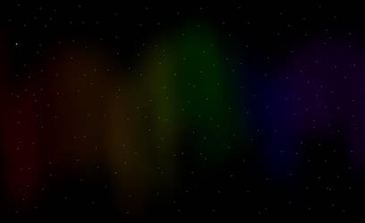 Rainbow Aurora Borealis by KillerWereWolf1