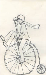 Pennyfarthing ride. by el-snicket