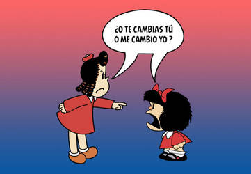 Little Lulu VS. Mafalda by re-ed