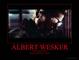 Albert Wesker Demotivator by ResidentShockHound
